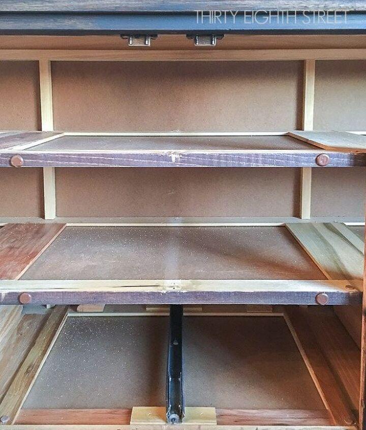 repurposed dresser into media cabinet, kitchen cabinets, kitchen design, painted furniture