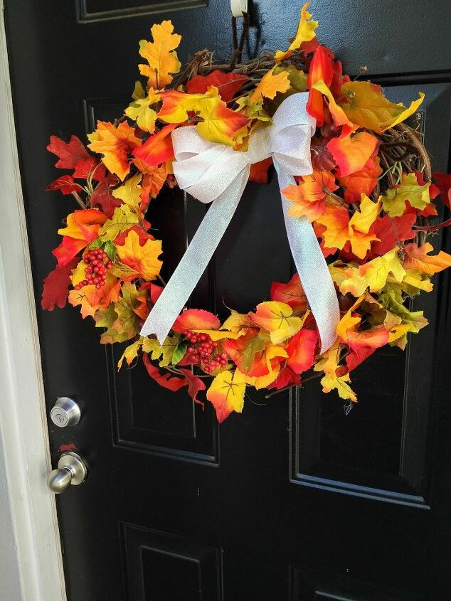 r this is my fall wreath for 2015, crafts, wreaths