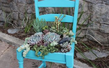 Upcycled Succulent Chair