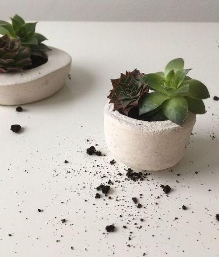 how to make concrete planters, concrete masonry, gardening, how to
