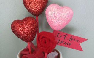 valentine s day dollar store craft pot of hearts, crafts, seasonal holiday decor, valentines day ideas