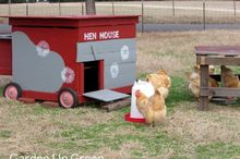 diy stenciled chicken coop
