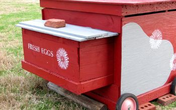 DIY Stenciled Chicken Coop