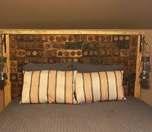 wood lego headboard