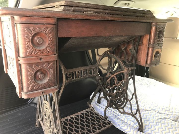 What Can I Do With This Singer Sewing Table Hometalk