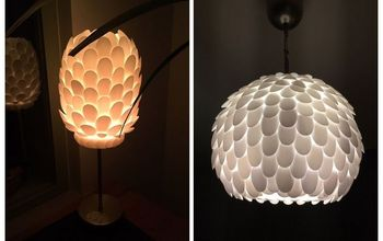 Design Your Own Plastic Spoon Lamp