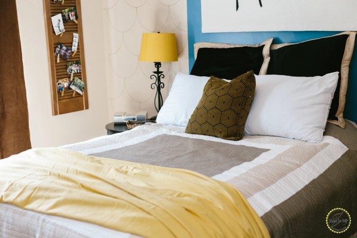 scalloped accent wall, home decor, wall decor