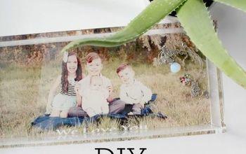 DIY Personalized Photo Tray