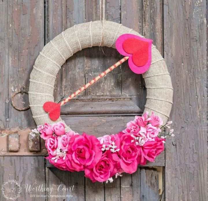 s dress your door for valentine s with these 20 beautiful wreaths, crafts, doors, seasonal holiday decor, valentines day ideas, wreaths, This one made with supplies from the dollar s