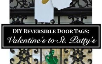 DIY Reversible Door Tags: Valentine's to St. Patty's
