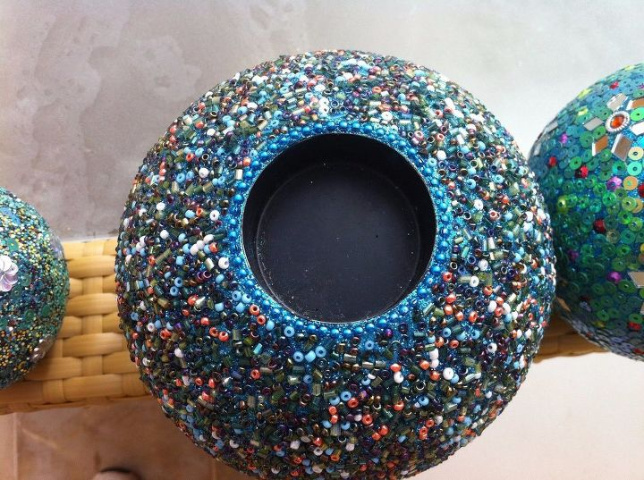 e seed bead and sequin vases, gardening