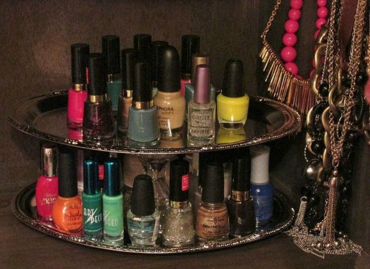 s 15 simple storage solutions from the dollar store, storage ideas, Stack some trays into a nail polish holder