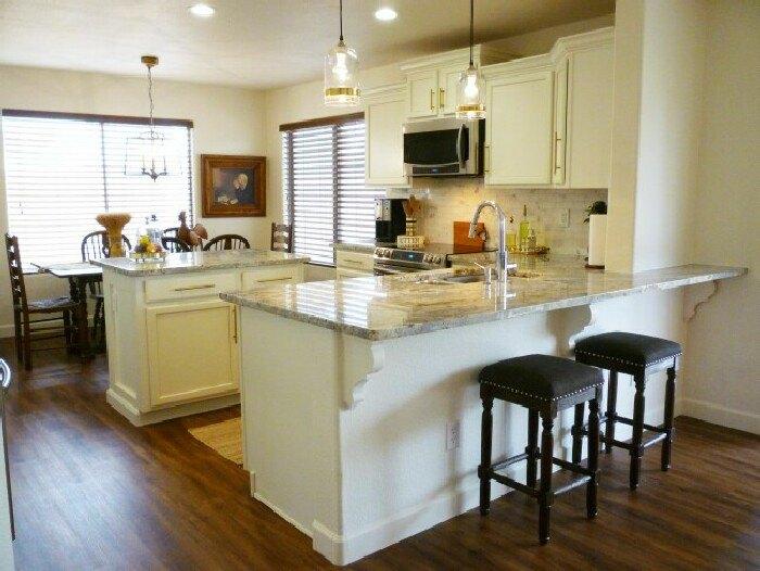 The Builder Basic Kitchen Makeover Reveal Hometalk Adorable Basic Kitchen Design