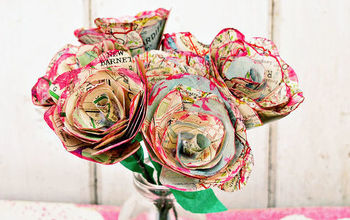 how to make some simple but gorgeous paper flowers with maps, gardening, how to