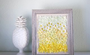 ombre floral wall art, crafts