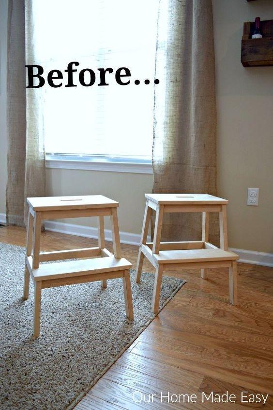 an easy ikea hack for the bekvam stool