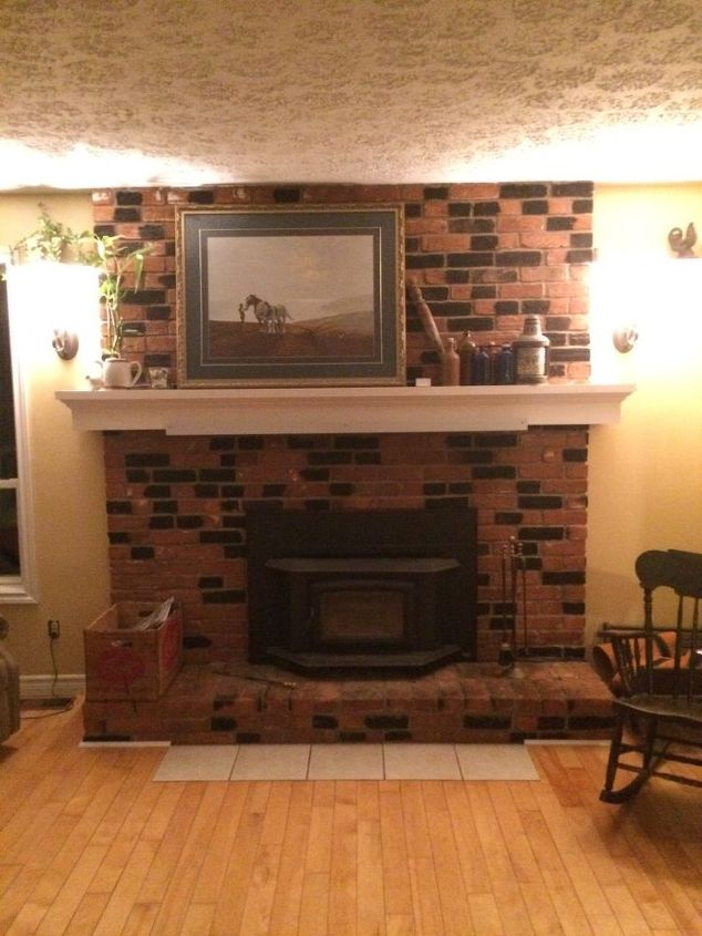 q how to whitewash my dated fireplace, fireplaces mantels, how to