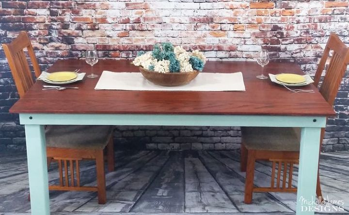 building a dining table, painted furniture
