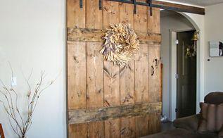 wide rustic barn door, doors, outdoor living
