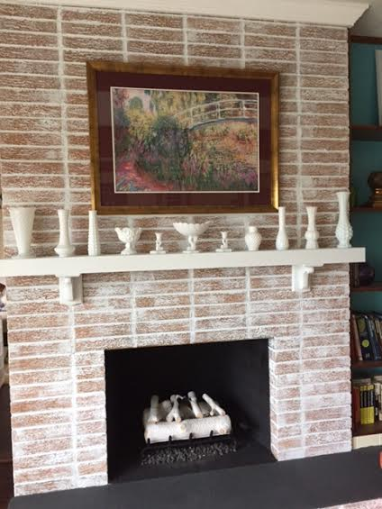 fireplace whitewash project, fireplaces mantels