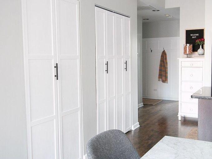 how to add trim to plain bifold doors, doors, how to
