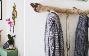 Rustic Jewelry Hanger Made From Old Keys | Upcycle Driftwood DIY
