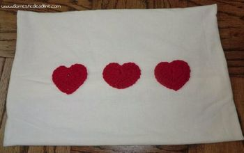 quick valentine s pillow, seasonal holiday decor, valentines day ideas