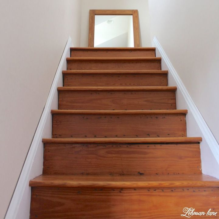 refinishing our farmhouse stairs, stairs