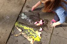 erupting ice chalk for playtime