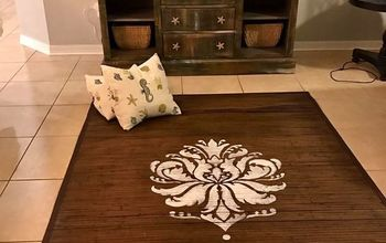 Bamboo Rug Makeover