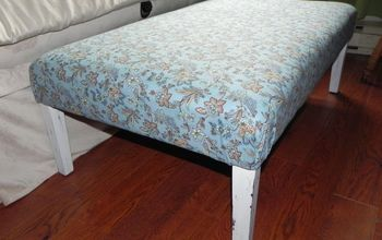 repurposed ottoman coffee table, painted furniture