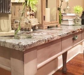 Diy Aged Galvanized Steel Wrapped Table Top, Painted Furniture