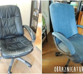 Old office chair Desk Fancy Makeover Jeans Cover For An Office Chair Hometalk Fancy Makeover Jeans Cover For An Office Chair Hometalk