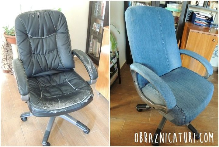 Fancy Makeover: Jeans Cover for an Old Office Chair | Hometalk
