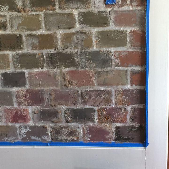 faux brick wall, concrete masonry