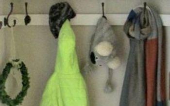 hall closet turned mini mudroom, closet, foyer, Closet in action