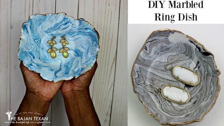diy marbled ring dish tutorial, how to