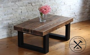 recycled timber coffee table, painted furniture