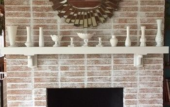 Fireplace Whitewash Project