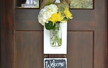 diy front hanging door vase, doors