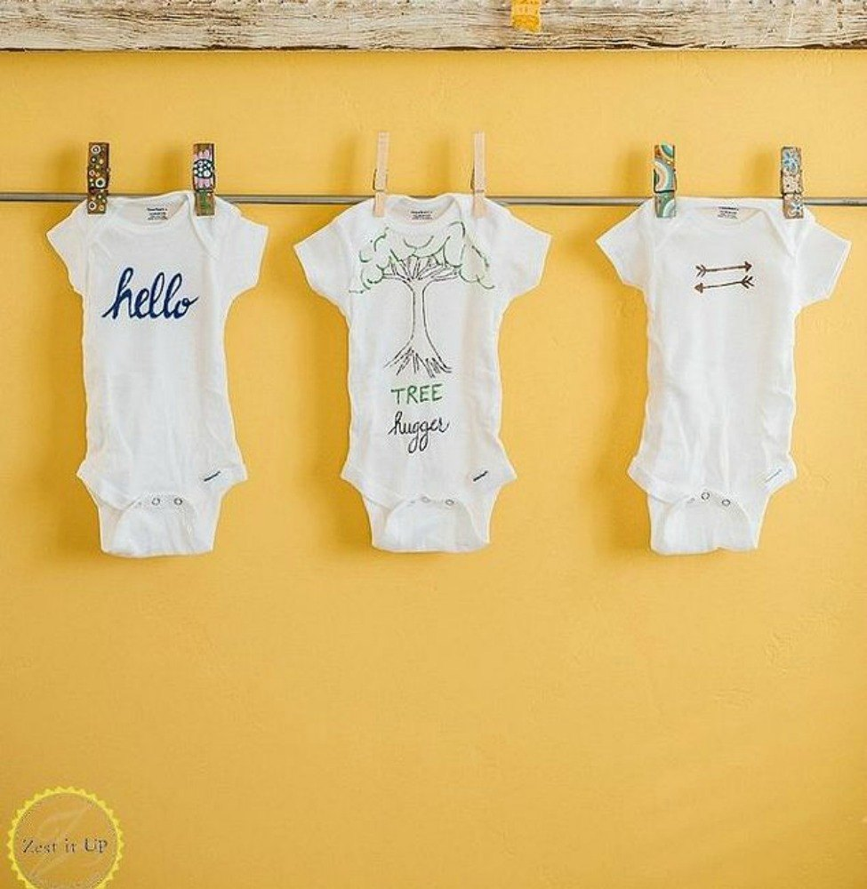 21 adorable baby gifts that will make people go oooh and ahhh or these personalized ones with markers negle Image collections