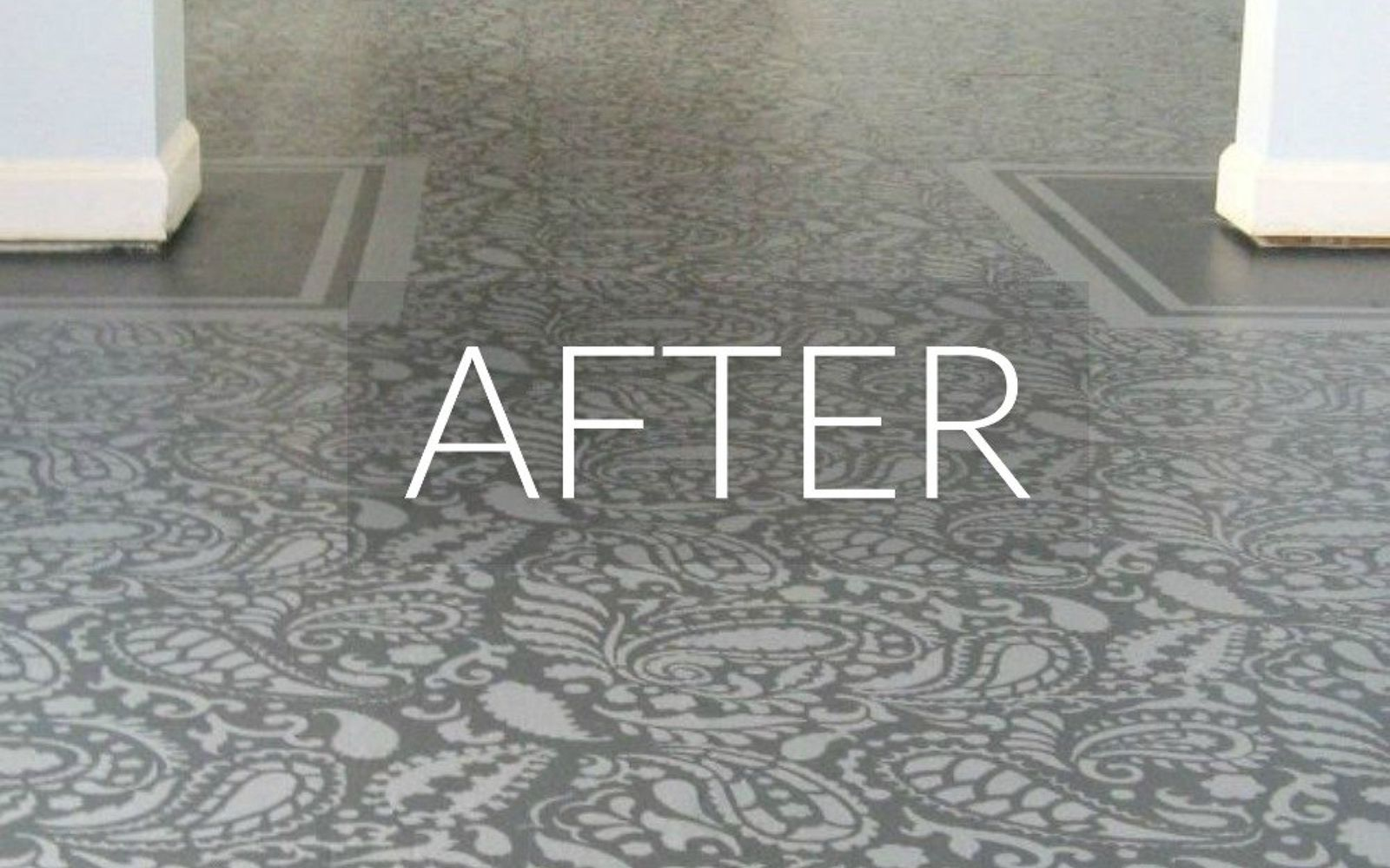 s 7 floor transformations that ll convince you to get rid of your carpet, flooring, reupholster, After A painted masterpiece