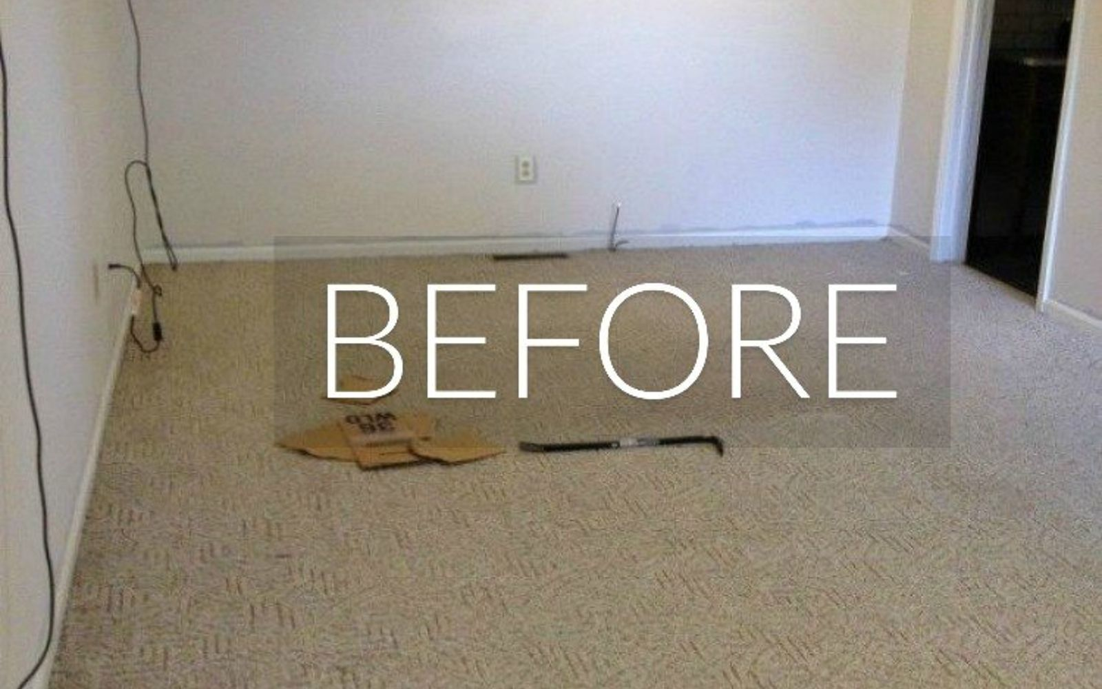 s 7 floor transformations that ll convince you to get rid of your carpet, flooring, reupholster, Before A patterned beige carpet