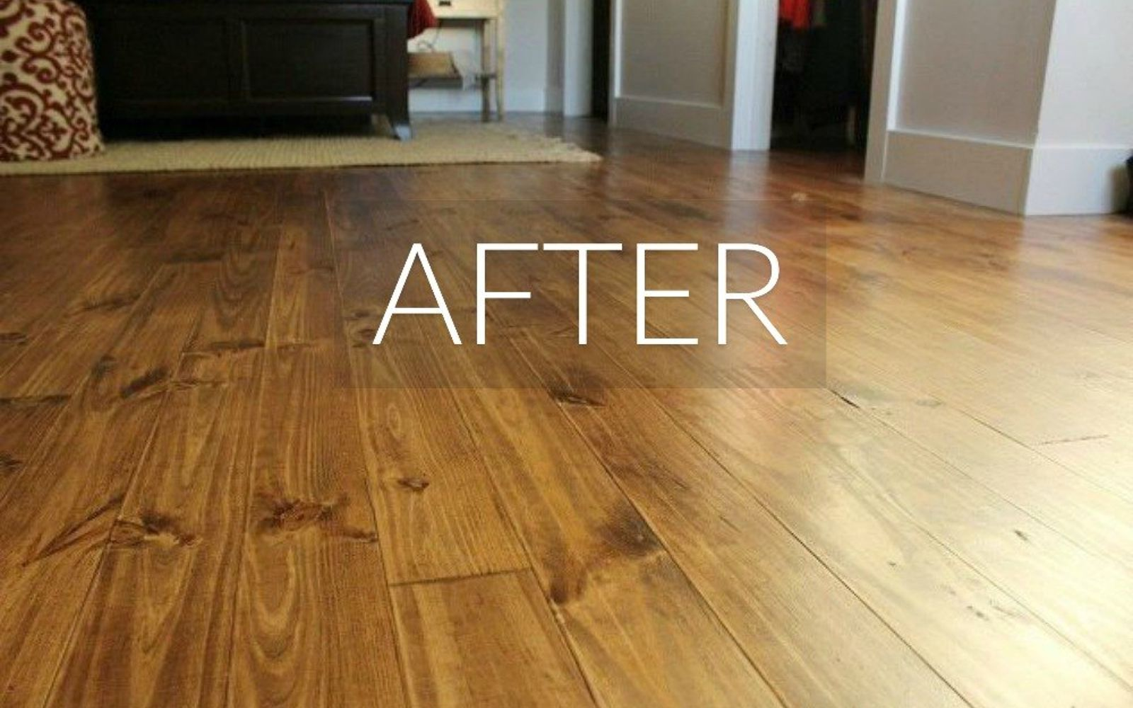 s 7 floor transformations that ll convince you to get rid of your carpet, flooring, reupholster, After A solid and stunning pine wood floor