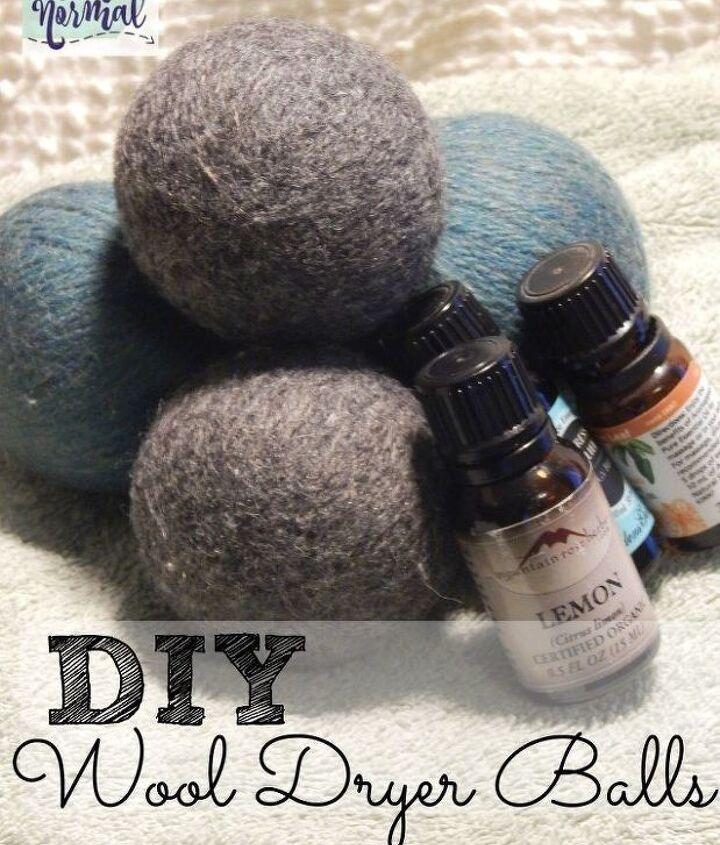 diy wool dryer balls, appliances