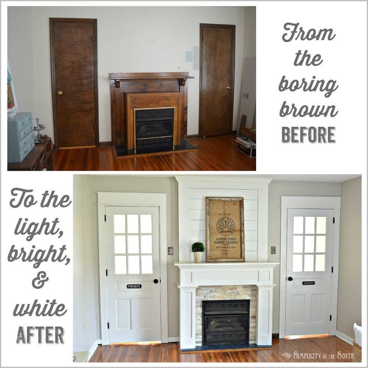 Farmhouse Fireplace Surround Makeover On A Budget Fireplaces Mantels