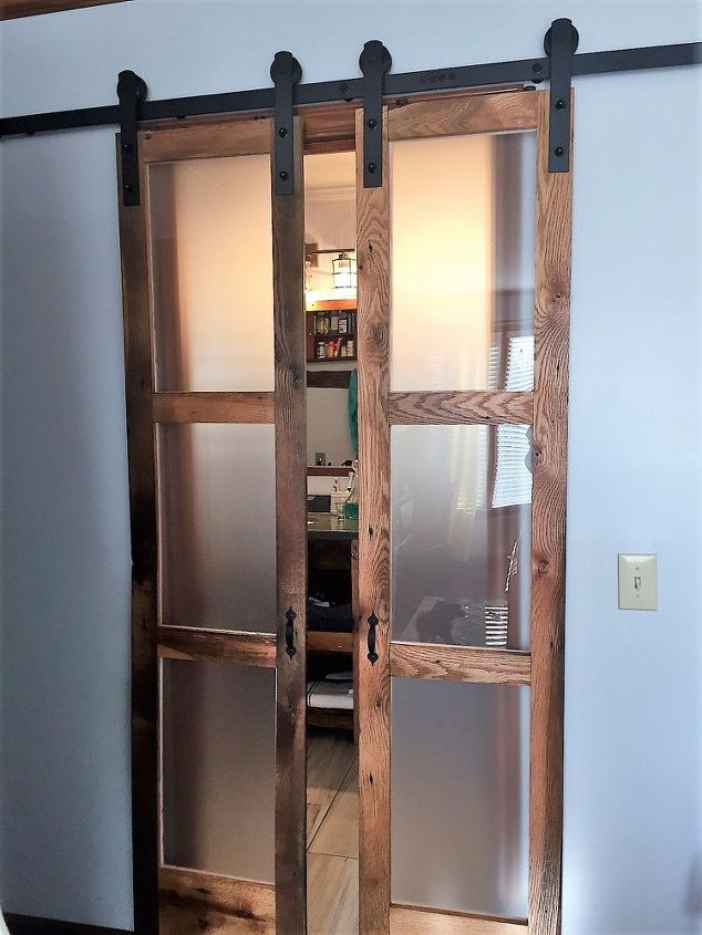 "We Built Double Sliding ""Barn-Style"" Doors for Bathroom ..."