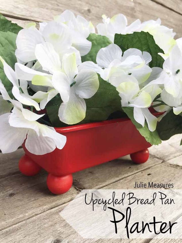 upcycled bread pan planter, gardening