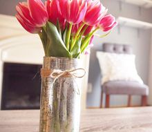 diy mercury glass dollar store vase