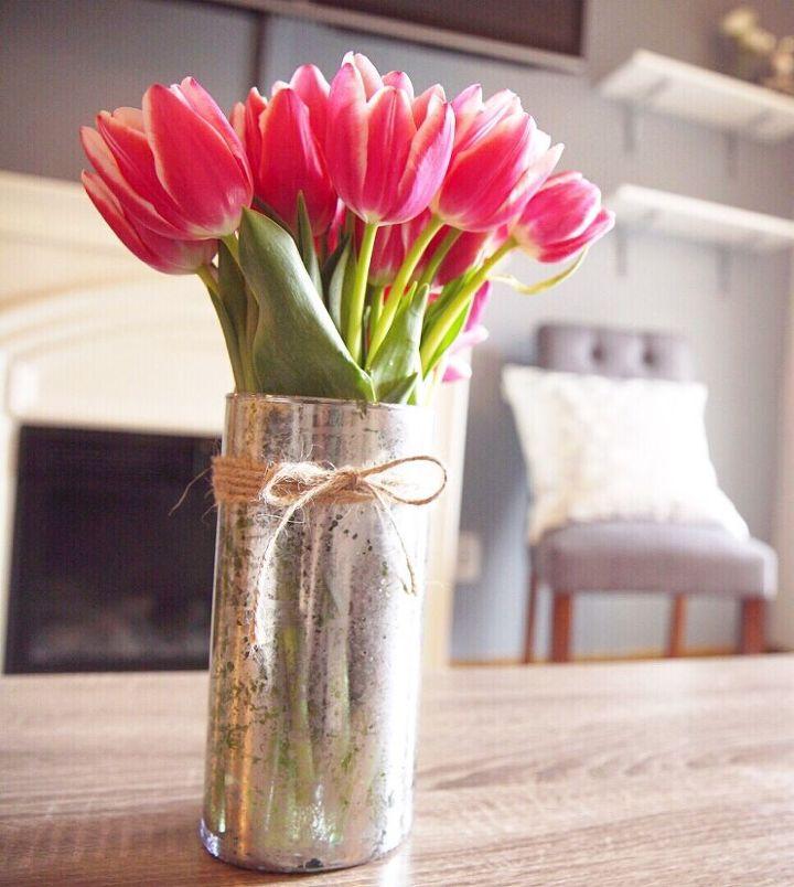 Diy Mercury Glass Dollar Store Vase Hometalk